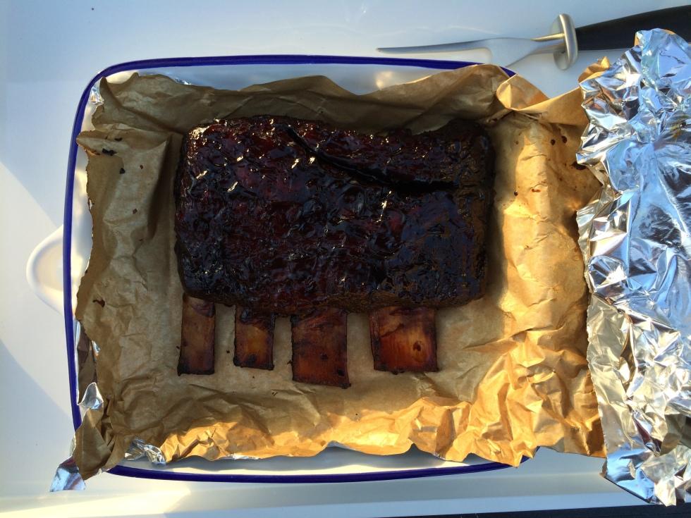 BBQ beef short ribs with marmite glaze | butterwouldntmelt.com