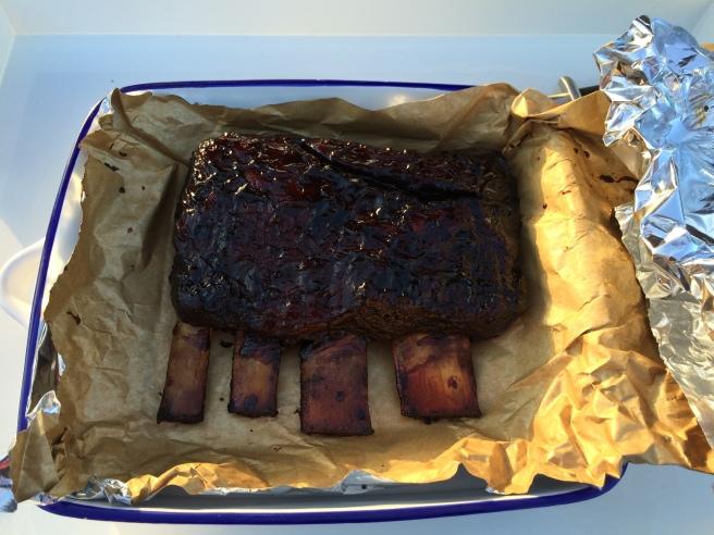 BBQ glazed beef short ribs