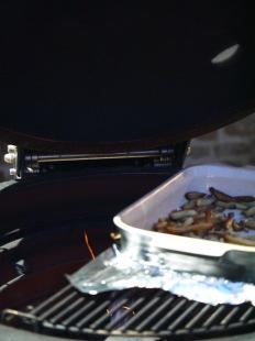 chips roasting on bbq